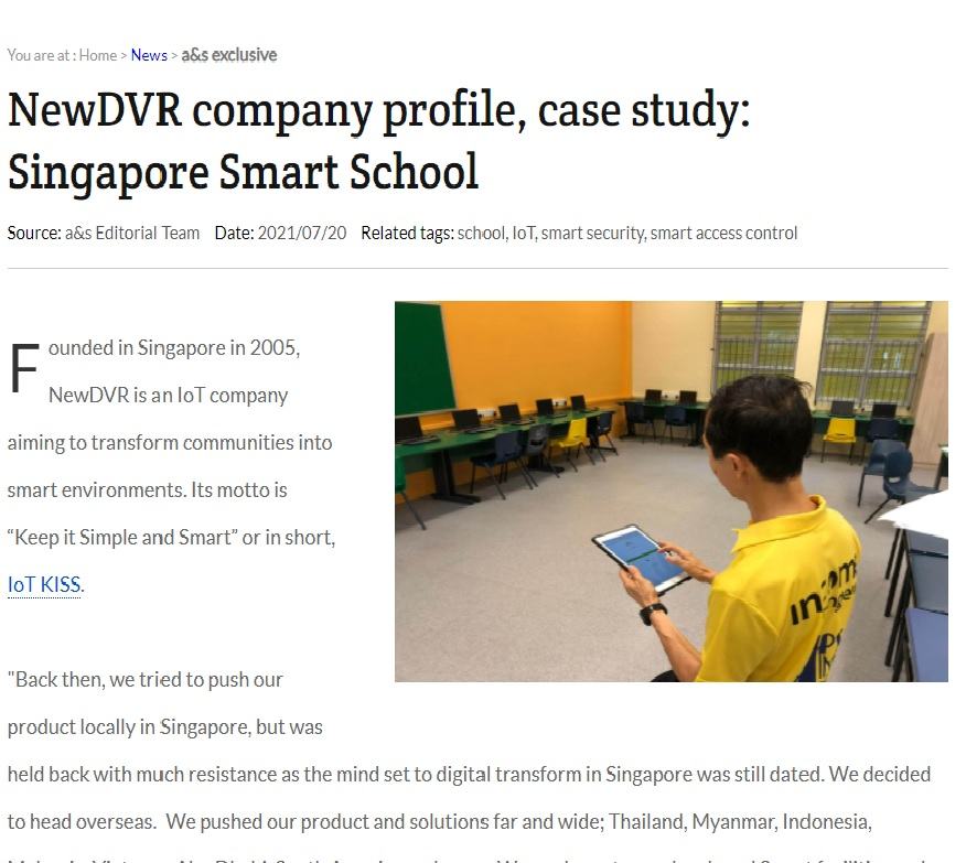 Singapore Smart School Case Study Published on ASMAG.COM